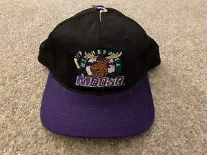 Vtg NEW Minnesota Moose IHL Snapback Hat - Annco - NWT Rare