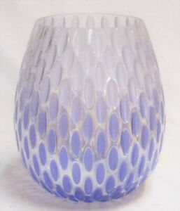 Yankee Candle Jar Holder Pearlescent Spring Glass Faceted Vase New FREE SHIPPING