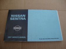 1997 nissan sentra gxe owners manual