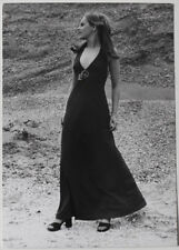Echtes Original 1970s sexy amateur long dress fashion model, Model SNAPSHOT