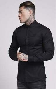 SikSilk Cotton Stretch Shirt - Black XS