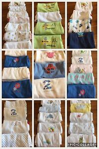 Long & Short Sleeve Baby Bodysuits Vests ex M&S & F&F Newborn up to 9-12 Months