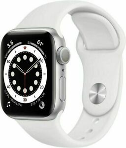 Apple Watch Series 6 Silver Aluminum White Sport Band 40MM Model A2291 NEW