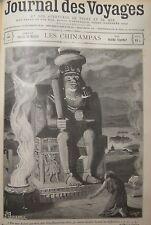 JOURNAL DES VOYAGES N° 144 GRAVURE MEXIQUE CHINAMPAS DIEU HUITZILOPOCHTLI 1899