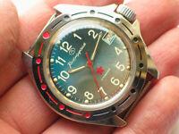 Soviet VOSTOK Komandirskie Military Watch Rare Dial ZAKAZ MO USSR VGC+