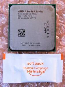 AMD A4-Series A4-6300 AD6300OKA23HL Dual-Core 3.7GHz Socket FM2 Processor CPU