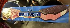"""Blue Bunny Marquee 46"""" x 10"""" Lighted Sign Translite Store Print Store Display"""