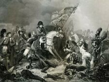 Battle of Waterloo, 1815, Napoleon... antique engraving.....1856