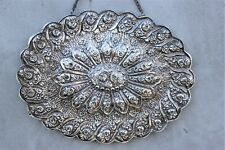 Oval vintage Islamic Mirror Turkish 900 Silver Frame Ornate Decorative Wall Mirr
