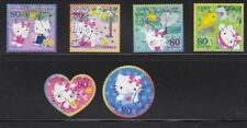 JAPAN 2009 HELLO KITTY & DEAR DANIEL GREETING 80 YEN COMP. SET OF 6 STAMPS USED