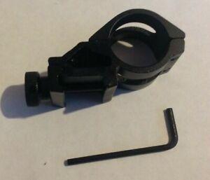"1"" 25mm Offset Flashlight Torch Laser Mount 20mm Weaver Picatinny Rail AIRSOFT"