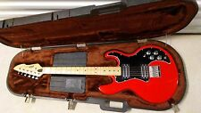 1980 PEAVEY T-60 USA Electric Guitar Rare RED with Original Hard Shell Case