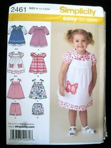 Simplicity Easy To Sew Patterns 2461 Size A 1//2,1,2,3,4