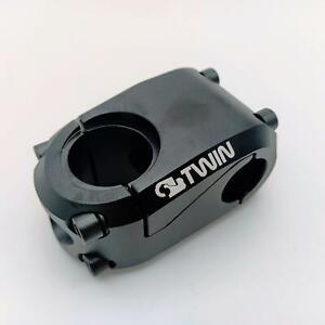 """TWIN DRIVE FULL CNC BMX BIKE STEM 22.2MMX43MMX1-1/8""""  BLACK"""