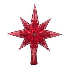 "Radko Ruby Stellar 14"" 1018609 Star Tree Finial"