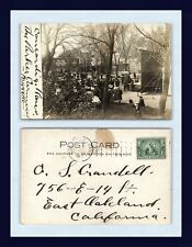 KANSAS CONCORDIA MOBEL WHITE MINSTRELS POSTED 1907 TO C.S. CRANDELL, OAKLAND, CA