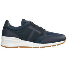 TOD'S MEN'S SHOES LEATHER TRAINERS SNEAKERS NEW BLUE 816