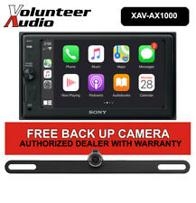 Sony XAV-AX1000 Touchscreen Media Receiver with FREE Backup Camera Included