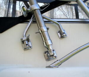 Outrigger kit with adjustable wishbone bases 4.5 meter fiberglass poles