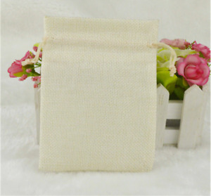 5 Sizes Burlap gift Bags wedding birthday party jewelry pouch jute color candy