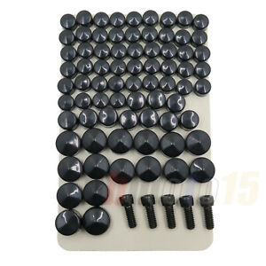 Motocycle Bolts Toppers Caps Bolts Cover Black For 2007 - 2020 Harley FLT FLH