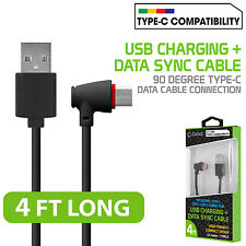 USB Type C 90 Degree Right Angle Data Charge Cable for Galaxy S8, S8+, LG G6/V20