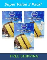 Pillsbury Traditional chocolate Cake Mix, 15.25 Ounce Pack of 3