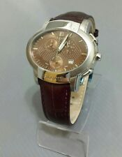 laura biagiotti watch swiss case oval st.steel size 47mm,chronograph