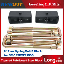 "2"" Rear Leveling lift kit for 2007-2018 Chevy Silverado Sierra GMC U Bolts+block"