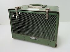 040- Vintage Mid Century Modern Small Pet Carrier By Alco Carrying Cases Rare