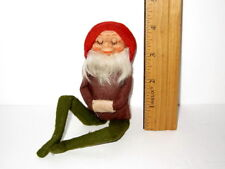 Vtg 1960's Kaymar GnomeKnee Hugger Elf Doll Retro X-mas Ornament Large 8""