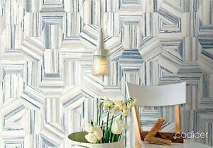 22x25 Blue/ Grey/ White carrara marble-effect matt hexagon porcelain tiles 3.5m2