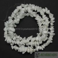 Natural White Alabaster Gemstone 5-8mm Chip Nugget Spacer Loose Beads 35""