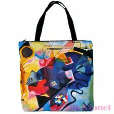 Kandinsky Yellow Red Blue Abstract TOTE SHOPPING BAG FINE ART PRINT CANVAS GIFT