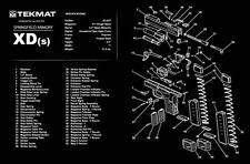 """NEW Springfield Armory XDs TekMat Gun Cleaning Mat 11"""" X 17""""  Parts Schematic"""