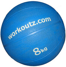 WORKOUTZ 8KG (17.6 LBS) CLEARANCE SLAM MEDICINE BALL BOUNCING WEIGHTED