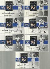 2000 UD Yankees Legends - TONY KUBEK - Legendary Lumber Silver Game Used Bat