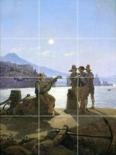 Art Carl Gustav Carus Italian Fishermen Mural Ceramic Backsplash Bath Tile #2075