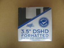 "Floppy Diskettes 3.5"" DSHD 25 Diskettes Formatted IBM and Compatibles Discs Disk"
