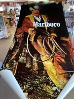 "Vtg Original Marlboro Man Cowboy Door Poster 75""x36"" NOS New"