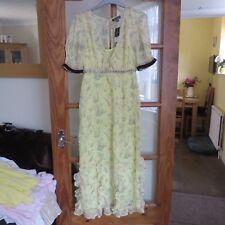 TopShop Yellow/Flower print Dress size 8 BNWT
