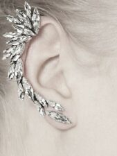 GLAMOROUS MARQUISITE CUT RHINESTONES AND PEARL EAR CUFF - RIGHT EAR