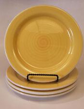 "(4) Ceramica QUADRIFOGLIO Yellow Swirl Luncheon Plates - 9 1/2"" Diameter"