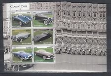 10pcs Transport Classic Cars Cadillac - Perf  Private Local issue [PL14] not MNH