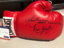 ERIK MORALES MARCO BARRERA 2000 FOY Signed Autograph Everlast Boxing Glove PSA