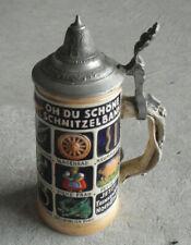 """New listing Vintage Germany Original Thewalt Oh Du Schonf Lidded Beer Stein 6 3/4"""" T"""