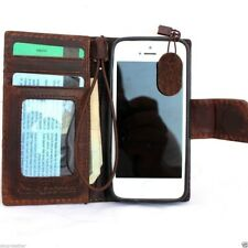 genuine real leather case for iphone 5 c cover book wallet creditcard  5c id c5