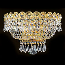 Palace Empire 3 Light Crystal Wall Sconce Wall light Gold 12x6