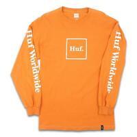 HUF Mens Domestic Box L/S Shirt Rusty Orange M New