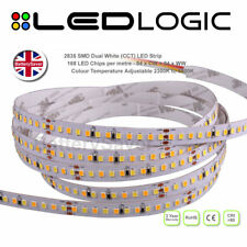Top QUALITY Dual Bianco CCT A LED STRISCIA LUMINOSA -2835 (168 CHIPS PER METRO) - 5M Rotolo
